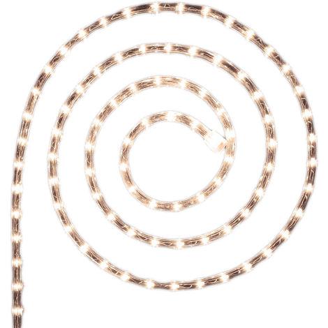 Guirlande lumineuse extérieur Tube LED 8 Fonctions 6 m Blanc chaud