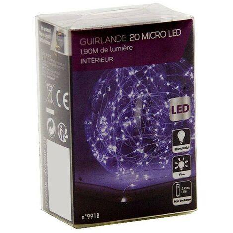 Guirlande lumineuse fil de cuivre 40 LED à piles 2.10 m