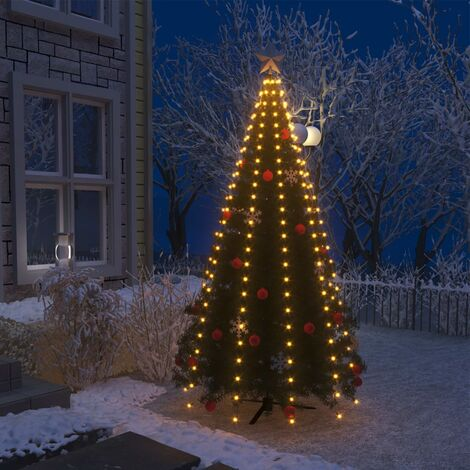 Guirlande lumineuse filet d'arbre de Noël 250 LED IP44 250 cm