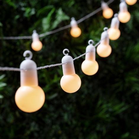 Guirlande Lumineuse Guinguette 20 Boules LED Blanc Chaud pour Intérieur/Extérieur Lights4fun