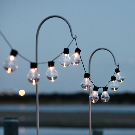 guirlande lumineuse guinguette solaire avec 10 boules led. Black Bedroom Furniture Sets. Home Design Ideas