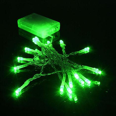 Guirlande lumineuse interieure 2M 20 LED Fête Noël Party Déco Vert