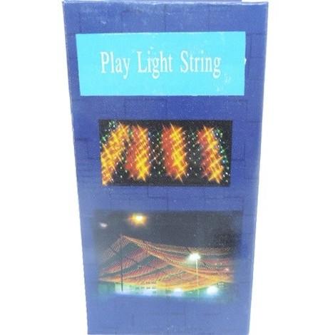 Guirlande lumineuse intérieure néon longueur 10m lumiere fixe blanc chaud avec cable noir F509 PL-120-10M-24V