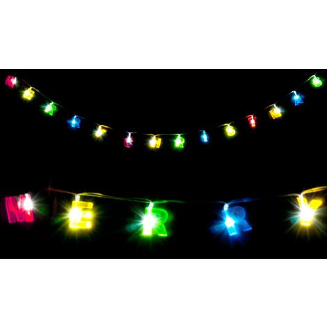 Guirlande De Noel Lumineuse.Guirlande Lumineuse Led Merry Christmas Multicolore Décoration Noël Fêtes