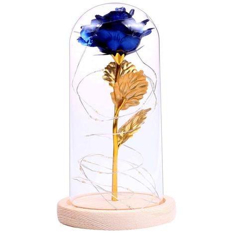 Guirlande Lumineuse Led Rose Flower, Pour Cadeau, Bleu