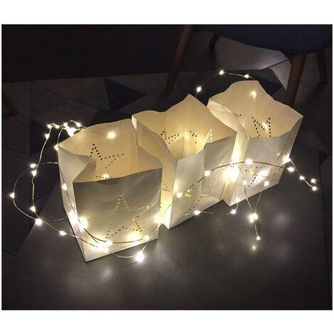 Guirlande Lumineuse micro-LED 4 m Intérieur Extérieur - Blanc