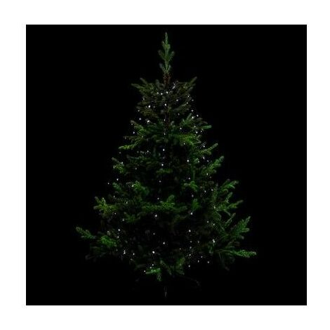 Guirlande lumineuse pour sapin 170 LED - D 8 cm x H 165 cm - Blanc froid