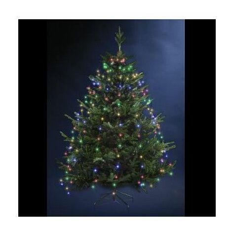 Guirlande lumineuse pour sapin 170 LED - D 8 cm x H 165 cm - Multicolore - Livraison gratuite