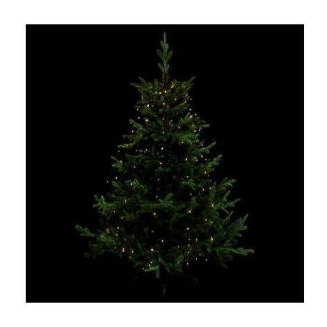 Guirlande lumineuse pour sapin - D 8 cm x H 165 cm - Blanc chaud