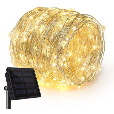 Guirlande lumineuse solaire 100 micro LED