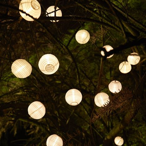Guirlande lumineuse solaire 20 lanternes