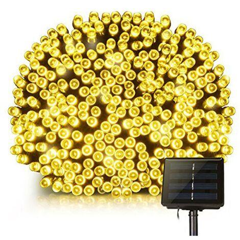 Guirlande lumineuse solaire décoration extérieur 100 LED blanc chaud YOGY SOLAR WARM 8.90m 8 modes