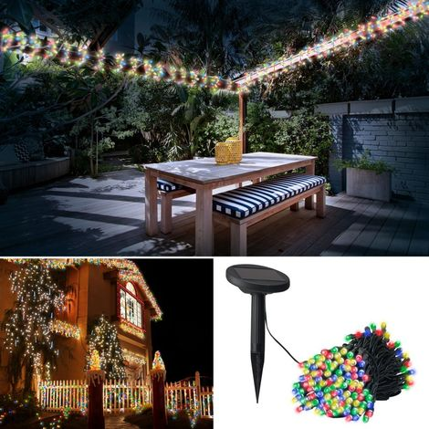 Guirlande solaire 400 led multicolores décoratives