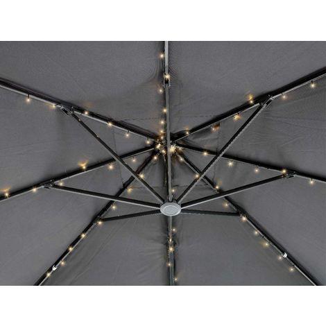 Guirlande solaire 72 Led pour parasol - Blanc chaud