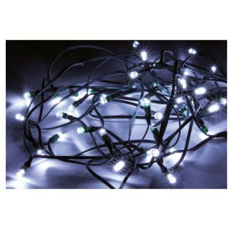 Guirlande Solaire LED 20M 200LED IP44, 8 Modes - Câble Vert, Blanc Froid