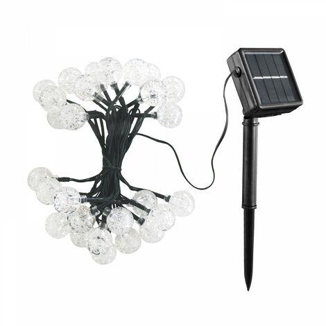 Guirlande solaire LED 30 boules 6,50m