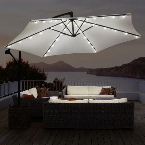 Guirlande solaire universelle pour parasol 6 baleines 36 LED