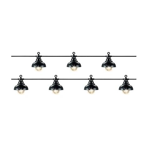 Guirlandes 10 LEDs - Style port marine - Blanc chaud - IP44