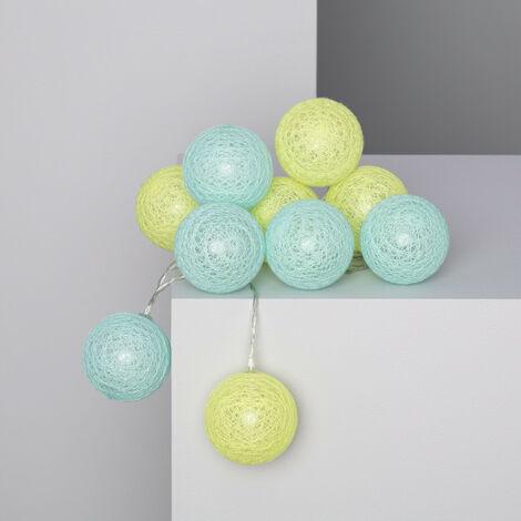 Guirnalda 10 Bolas LED Bicolor de Enchufe 2.85m