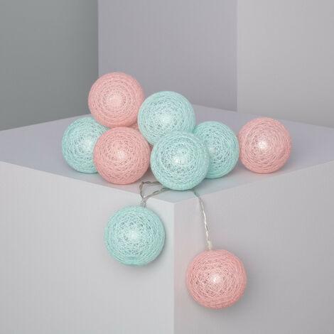 Guirnalda 10 Bolas LED Bicolor de Pilas 1.65m