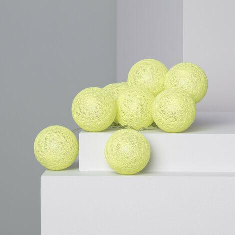 Guirnalda 10 Bolas LED Lemon 1.65m/2.85m Enchufe