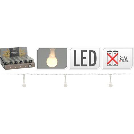 Guirnalda 20 luces led pilas