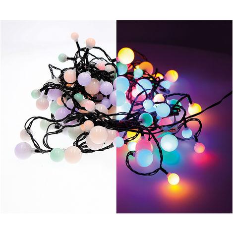 "Guirnalda ""cherry"" led luces de tres medidas 900cm 120leds multicolor exterior"