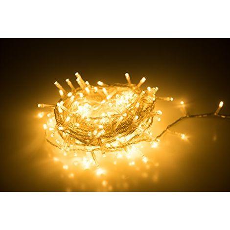 Guirnalda de 240 Luces LED Decorativas con 8 Modos de iluminación, a Prueba de Agua, Ideales para la decoración del hogar, Navidad, Fiestas, Color Blanco cálido