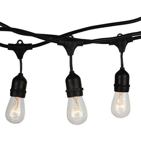 Guirnalda de luces LED E27 15 metros IP65 (15 portalamparas con 1 metro de distancia)