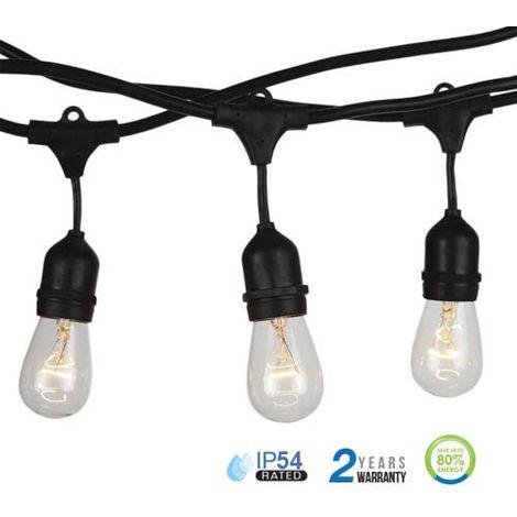 Guirnalda de luces LED E27 5 metros IP54