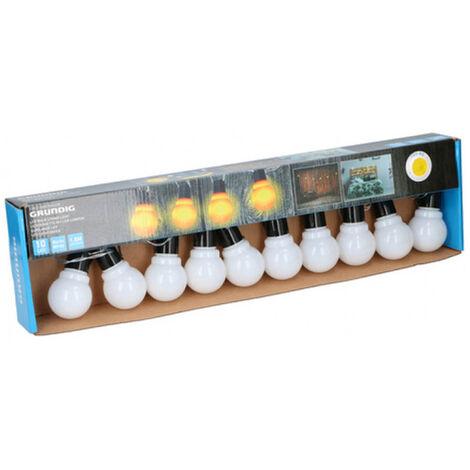 Guirnalda de Luces LED Interiores y Exteriores, Cadena de 10 Bombillas LED