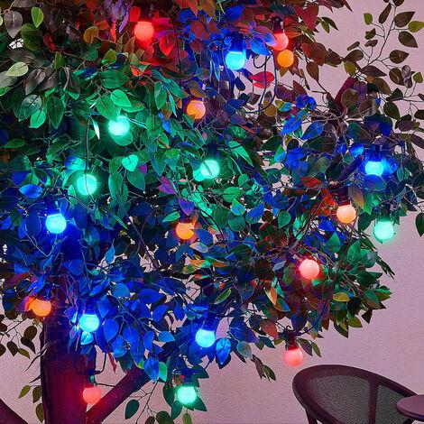 Guirnalda exterior LED Kelja 20 luces de colores
