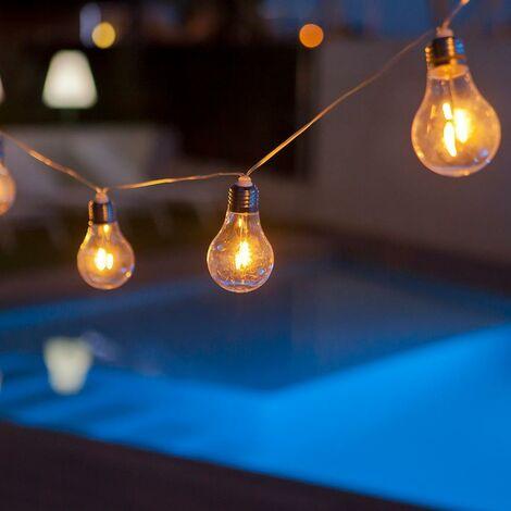 Guirnalda exterior MOOVERE 10 bombillas luz calida