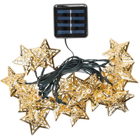 Guirnalda LED Solar 20 LEDs [PLMP-626054-WW] | Blanco Cálido (PLMP-626054-WW)