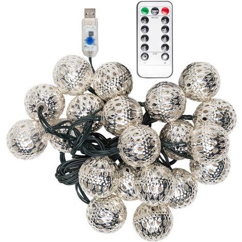 Guirnalda LED USB 20 LEDs [PLMP-626053-USB-WW] | Blanco Cálido (PLMP-626053-USB-WW)