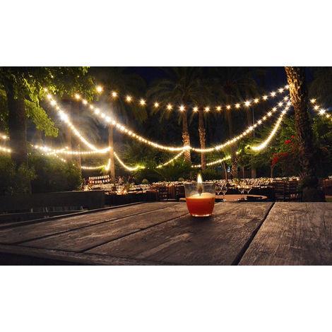 Guirnalda luces led e27 ip65 exterior jardin terraza