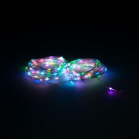 Guirnalda luces navidad 200 leds multicolor rgb con mando luz navidad interiores y exteriores ip44