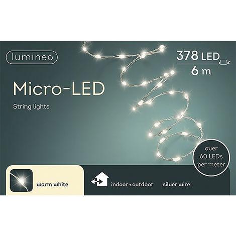 Guirnalda micro led extra brillante exterior blanco calido 600cm-378l