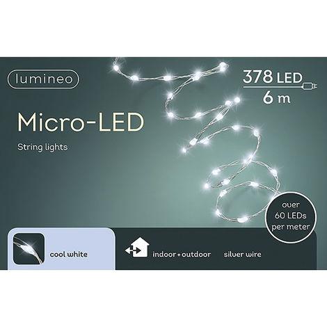 GUIRNALDA MICRO LED EXTRA BRILLANTE EXTERIOR BLANCO FRIO 600CM-378L - NEOFERR