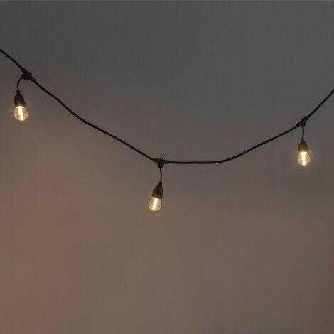 Guirnalda para exteriores LED con panel solar (10 luces)