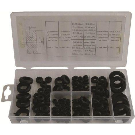 Gummitüllen Gummi Durchgangstüllen Sortiment 110-tlg Kabeltülle Kabelführung