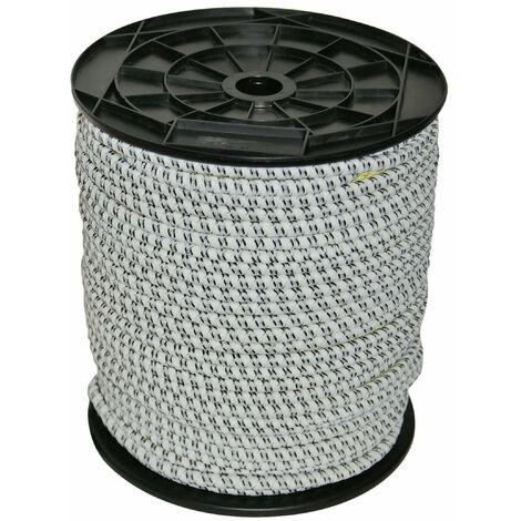 Gummi Elektroseil 50m, 7 mm, 3 x 0,30mm Niro