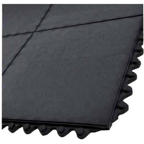 Gummi Steckmatte schwarz offen 900X900X15mm