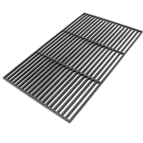 Gusseisen Grillrost eckig 67 x 40 cm massiv für Holzkohlegrill Gasgrill