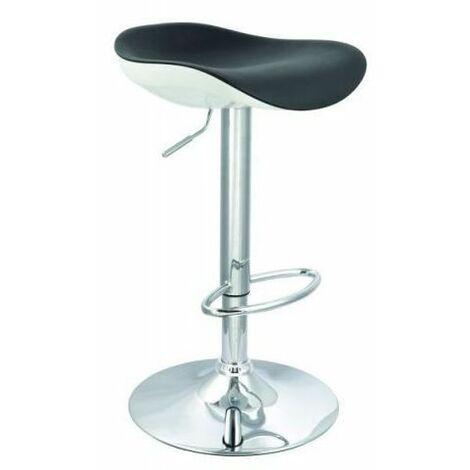 GUSTAV | Tabouret de bar moderne | Hauteur réglable 65-87cm | Revêtement en similicuir | Chaise de bar | Chaise haute cuisine - Noir