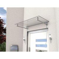 Gutta Edelstahlvordach HD | Glas-Vordach in 140 oder 160 cm Breite | Haustürvordach