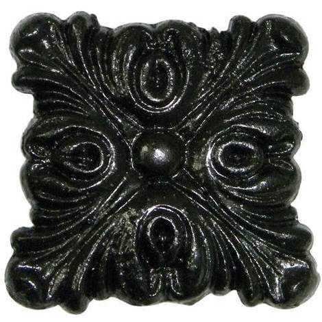 Gutter Motif Square Decorative - Standard 52mm Cast Iron Effect