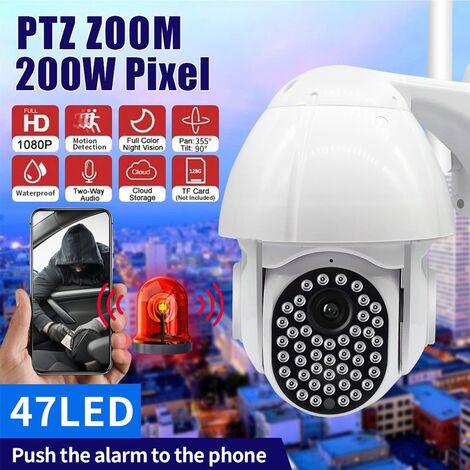 Guudgo 47 LED 1080P 2MP Caméra IP Dome de vitesse extérieur sans fil Wifi Sécurité IP66 Caméra étanche Pan Tilt 4XZoom IR Réseau CCTV Surveillance Adaptateur américain
