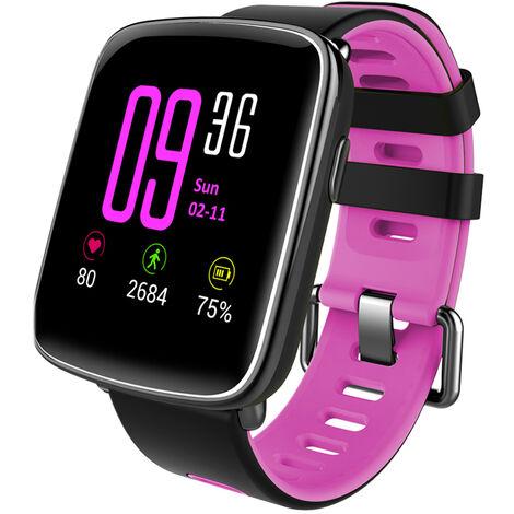 Gv68 Frequence Cardiaque Intelligent Bt Sport Montre Bracelet Notification D'Appel Podometre Alarme Veille Moniteur Pour Iphone 7 Plus Samsung S8 + Pour Android Ios, Rose