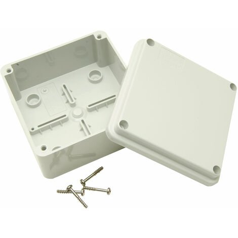 GW44205Plastic Electrical Connection Box Electric Table–Grey, 120mm, 50mm,